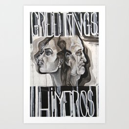 Greeting HIMeros Art Print