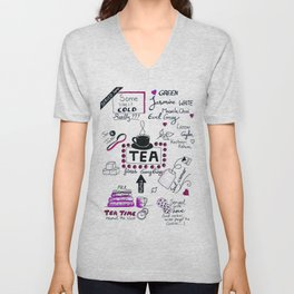 For the love of tea Unisex V-Neck