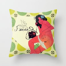 I Swear. Colored. Throw Pillow