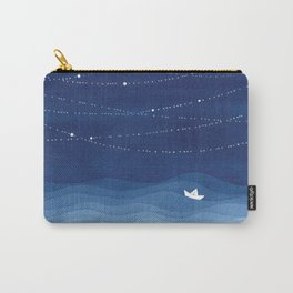 Follow the garland of stars, ocean, sailboat Carry-All Pouch
