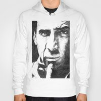 nicolas cage Hoodies featuring Nicolas Cage by DeMoose_Art