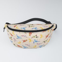 Vintage Wallpaper Birds Fanny Pack