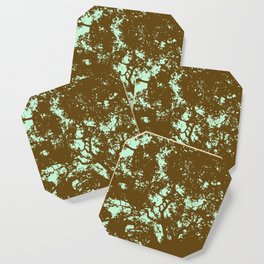 Mint and Brown Forest Coaster