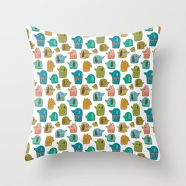 Pattern Project / Dogs Throw Pillow