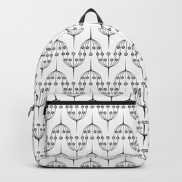 Abstract geometric pattern with floral elements Backpack