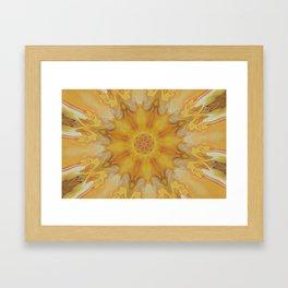 Burning Sun - Abstract Acrylic Art by Fluid Nature Framed Art Print