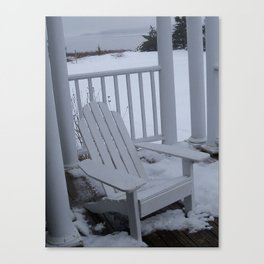 Winter Seaside 1 Canvas Print