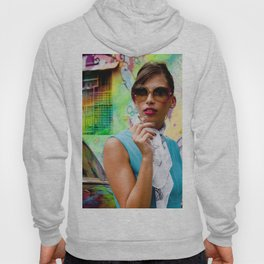 Woman and graffitti Hoody