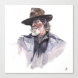 Jeff Bridges (Rooster Cogburn) Canvas Print