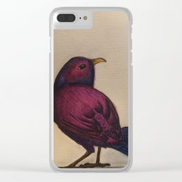 Fuchsia Bird Clear iPhone Case