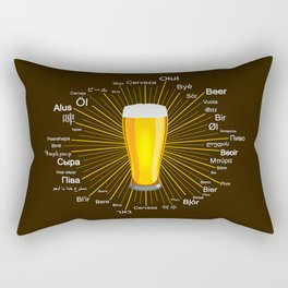 """Beer"" in 45 different languages Rectangular Pillow"