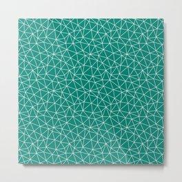 Teal Triangles Metal Print