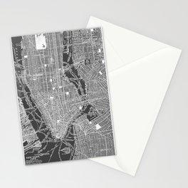 New York City Vintage Map Stationery Cards