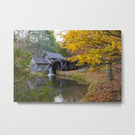Rustic Mill in Autumn Metal Print