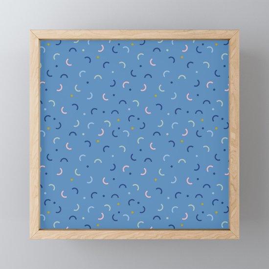 Memphis Style Blue Confetti by studio-textura