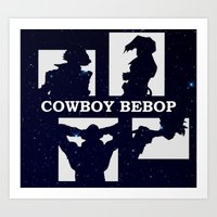 cowboy bebop Art Prints featuring Cowboy Bebop | Stars by Paul Johnson