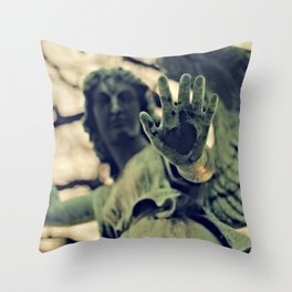 Angel Brush Knee and Palm Throw Pillow