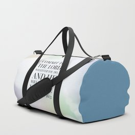 Proverbs 16:3 Bible Quote Duffle Bag