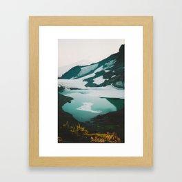 Broken Top Mountain -- Sunset Framed Art Print
