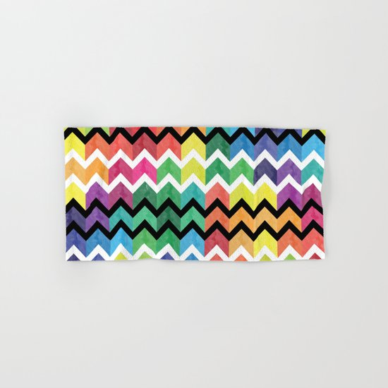 Watercolor Chevron Pattern VI Hand & Bath Towel