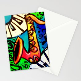Sax and keys Stationery Cards
