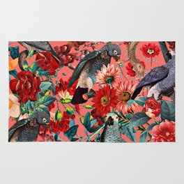 FLORAL AND BIRDS XIX Rug