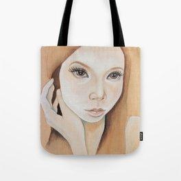 Self Portrait on Wood Tote Bag