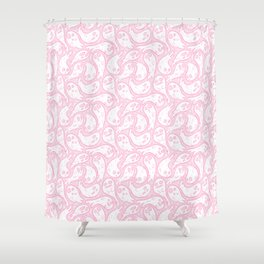 Good Lil' Ghost Gang in Pale Pink Shower Curtain