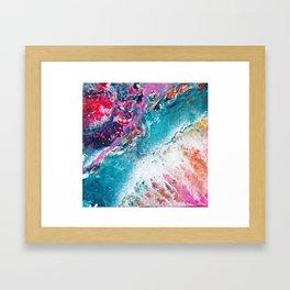 ENERGY   Acrylic fluid art by Natalie Burnett Art Framed Art Print