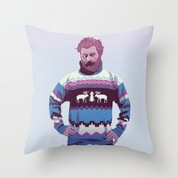 90s Throw Pillows featuring 80/90s - Trmd by Mike Wrobel