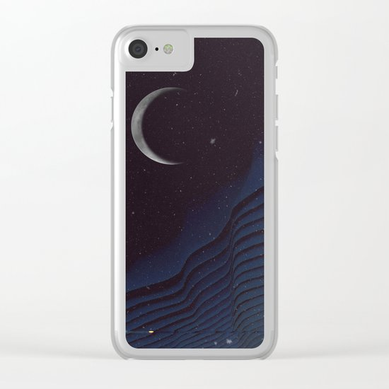 Waxing Cr3sc3nt Glytch Clear iPhone Case