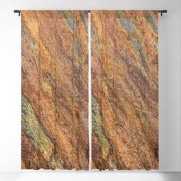 Rusty Latte // Orange Redish Stone Diagonal Texture Autumn Color Profile Blackout Curtain