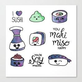 Galaxy Sushi Canvas Print