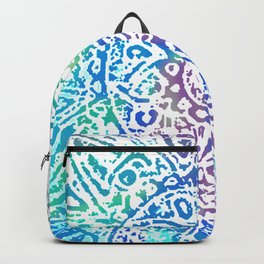 Heart Flower Blue Backpack