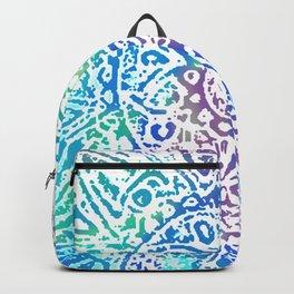 Heart Flower Blue Backpack