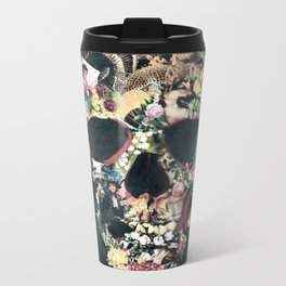 Vintage Skull Metal Travel Mug