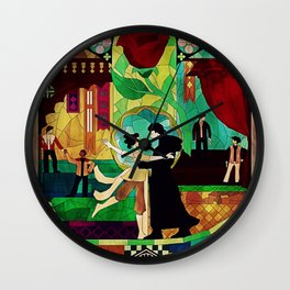 Stained glass Reylo Wall Clock