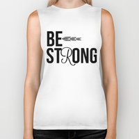 strong Biker Tanks featuring Strong by Hoeroine