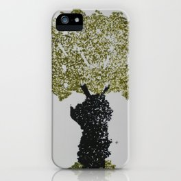 Grabado arbol iPhone Case