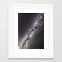 milky way Framed Art Prints featuring Milky Way by Space99