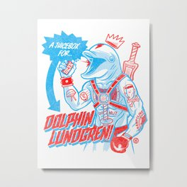 A Juicebox for Dolphin Lundgren Metal Print