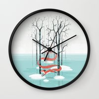 spirit Wall Clocks featuring Forest Spirit by Freeminds