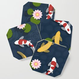 Japanese Koi Fish Pond Coaster