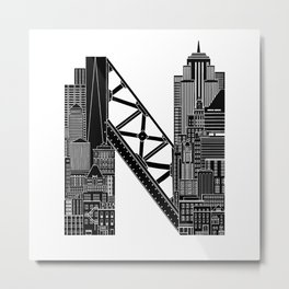N - from NYC Metal Print