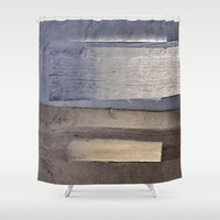 wooden Shower Curtains featuring Wooden Board by Motif Mondial