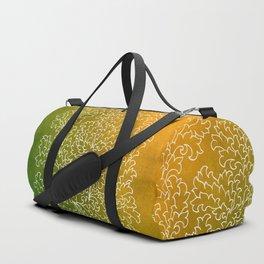Green Yellow Grunge Leaves Duffle Bag