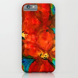 Garden Spirits - Vibrant Red Poppies Flowers By Sharon Cummings iPhone Case