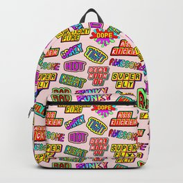 Funky pattern #08 (dope, straight fire, funky, hot, deal with it, crazy, awesome, etc) Backpack