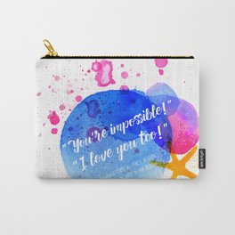 "Percy Jackson Percabeth House of Hades ""I love you too!"" Quote Carry-All Pouch"