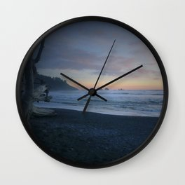 Sunset on La Push Wall Clock